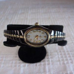 White Stag Black Wrist Watch With Flexible Stretch